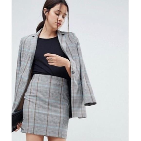 ASOS Jackets & Blazers - 📸 Asos ❉ Grid Checked Wool Blend Blazer ❉ Heather
